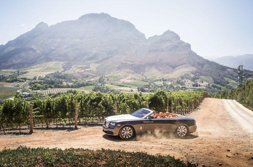 Rolls-Royce Dawn. Western Cape, South Africa.  Photo: James Lipman