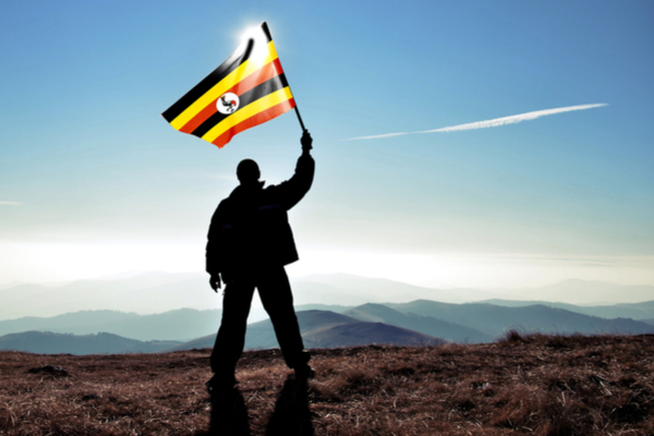 Uganda-man-with-flag