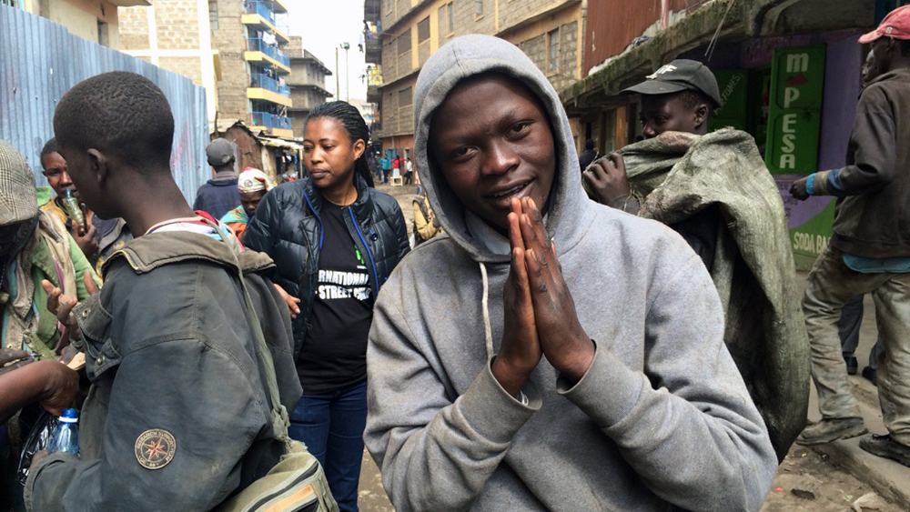A Ugandan youth begs on the streets of Nairobi, Kenya, on Jan 10, 2018. He came to Kenya in 2013 seeking work, but he ended up on the streets due to drug abuse. RNS photo by Doreen Ajiambo