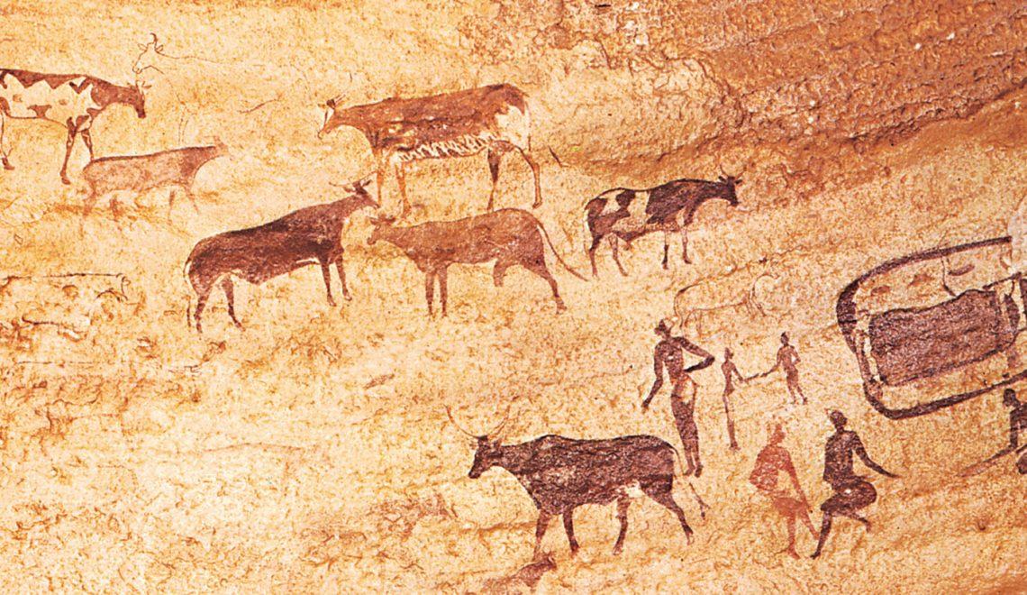 Painting-herdsmen-cattle-Cattle-Tassili-n-Ajjer-Alg